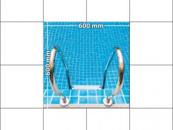 panele podłogowe 60 x 60 Schody do basenu
