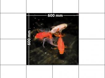 panele podłogowe 60 x 60 Złote rybki