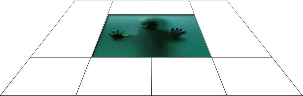 panele podłogowe 60 x 60 Dziecko za szybą