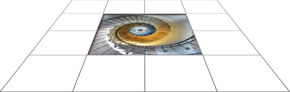 panele podłogowe 60 x 60 Schody w dół