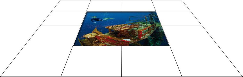 panele podłogowe 60 x 60 Zatopiony wrak